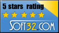 5 stars rating from Soft32