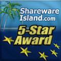 5-Star Award from sharewareisland