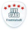 5 stars from FreeTrialSoft
